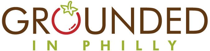 Grounded in Philly logo (the O in grounded is a tomato)