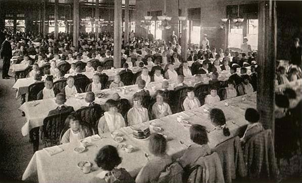 The dining hall at Pennhurst State School and Hospital