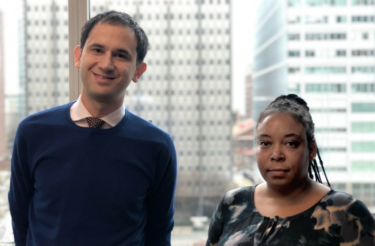 Attorney Ben Geffen and client Kim Burrell. We're representing Ms. Burrell, who lost her son to gun violence, and other advocates who are standing up for gun safety laws in Philadelphia.